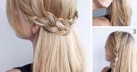 Romantic Braided Hairstyle