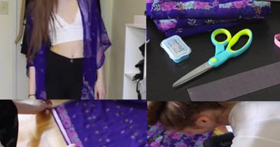 Make this DIY kimono is minutes!