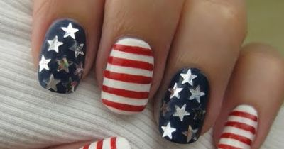 You need to try this stars and stripes nail art this July 4th!